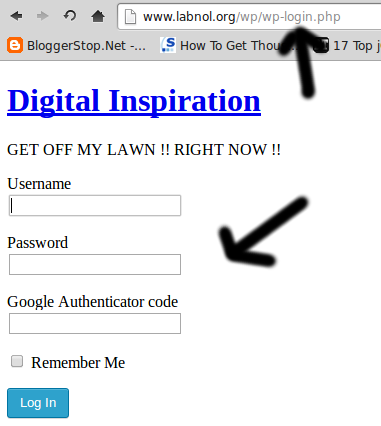 admin path any wordpress website