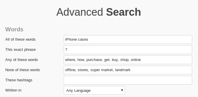 how to search advanced in twitter
