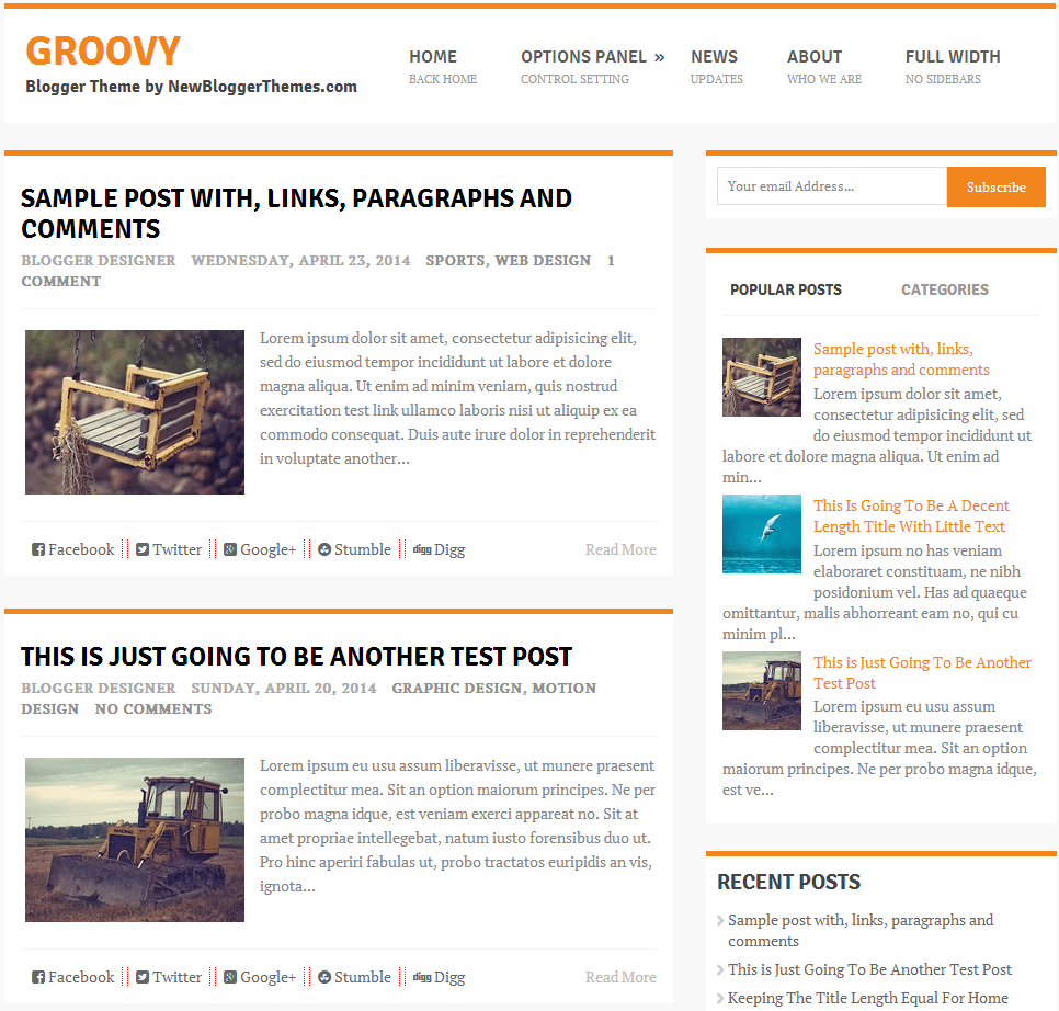 Groovy responsive template