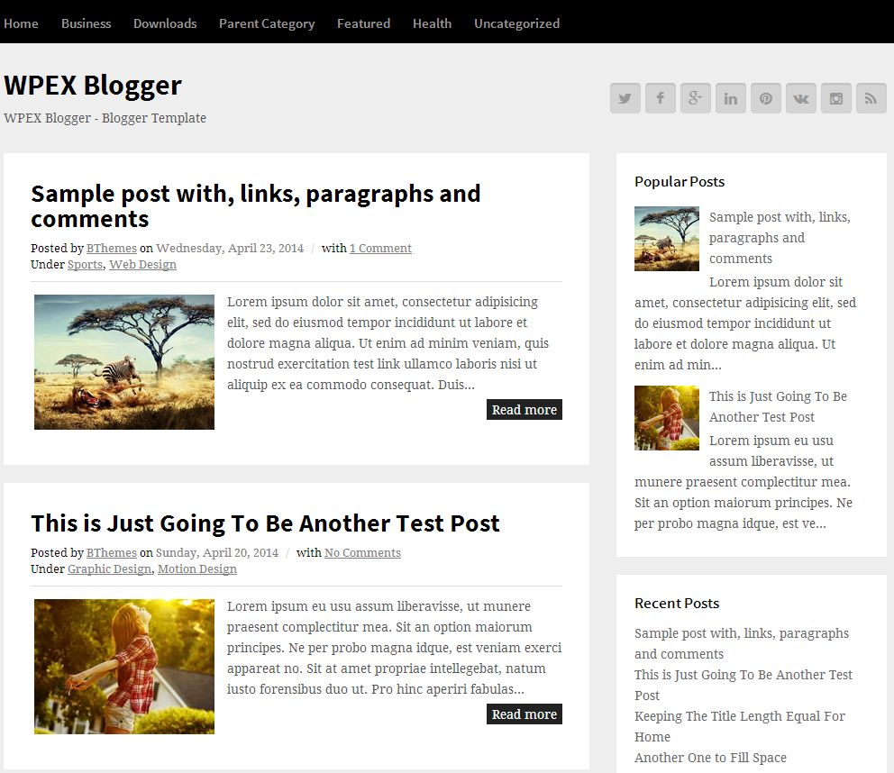 WPEX Blogger template