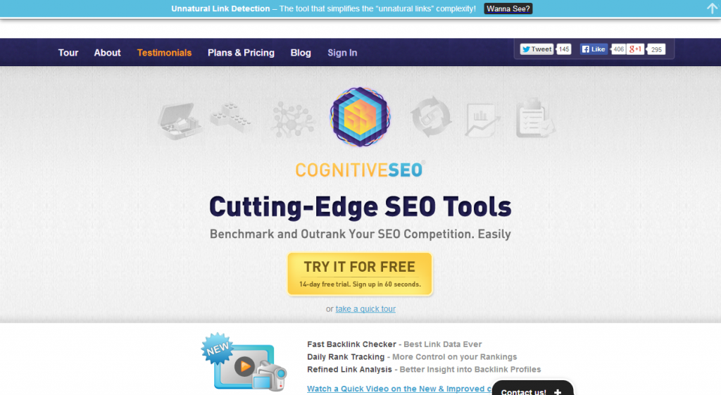 Cutting Edge SEO Tools   cognitiveSEO