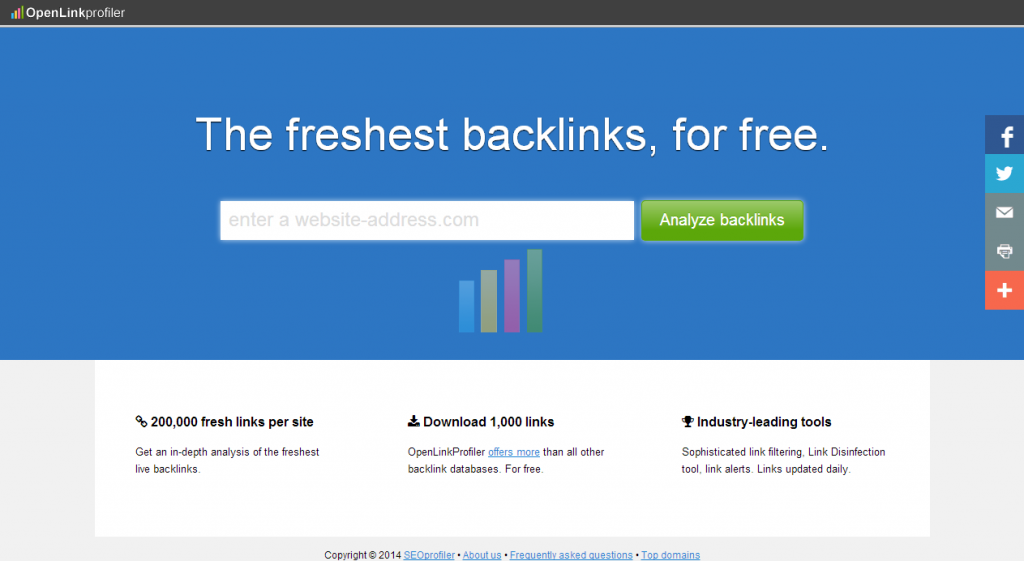 OpenLinkProfiler.org   The freshest backlinks. For free.