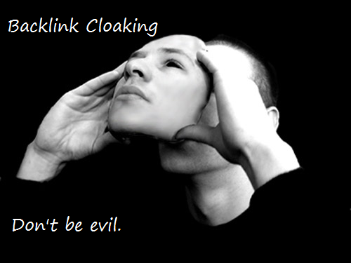 backlink cloaking