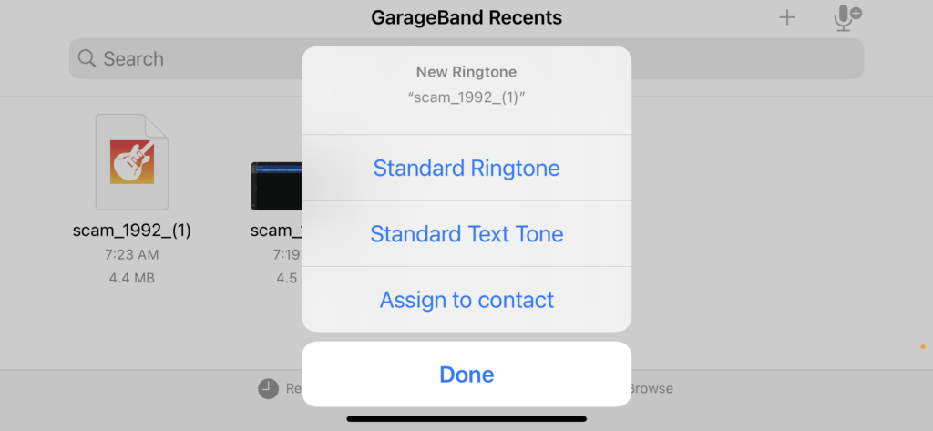 Set as ringtone on Iphone